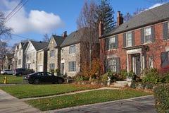 Suburban houses Royalty Free Stock Photography