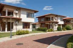 Suburban houses. Perfect neighborhood. New suburban houses. Perfect neighborhood Stock Images