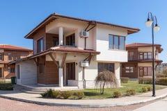 Suburban houses. Perfect neighborhood. New suburban houses. Perfect neighborhood Stock Photography
