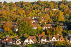 Suburban houses in Surrey, England Stock Photo