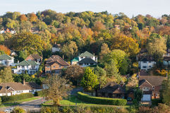 Suburban houses in Surrey, England Royalty Free Stock Images