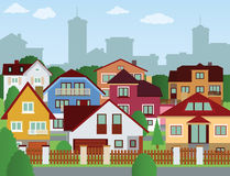 Suburban houses Royalty Free Stock Image