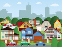 Suburban houses Royalty Free Stock Photo