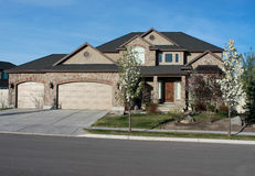 Suburban Housing in Utah. Image of a upper middle class home in suburban Utah royalty free stock photos