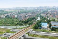 Suburban landscape Stock Images