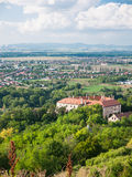 Suburban landscape panoramic view Stock Photo