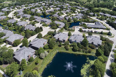 Suburban Luxury Townhouse Aerial Royalty Free Stock Image