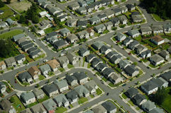 Suburban Maze Aerial. Series of roads weaving through a suburban neighborhood Stock Images