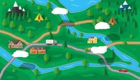 Suburban nature map Royalty Free Stock Photos