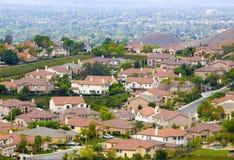 Suburban neighborhood. A peaceful suburban neighborhood overlooking a valley community Royalty Free Stock Photography