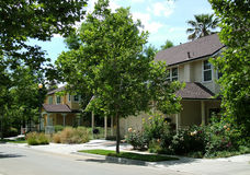 Suburban Neighborhood. View of a street in a suburban neighborhood Royalty Free Stock Image