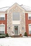 Suburban Neighborhood Brick Home Stock Images