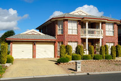 Suburban Neighborhood Brick Home Royalty Free Stock Photos