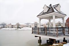Suburban Neighborhood Homes On The Water Stock Image