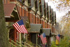 Suburban neighborhood in South Side of Chicago. Suburban neighborhood in South Side Chicago stock images