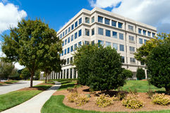 Suburban office building. In a generic parkway setting Royalty Free Stock Photo