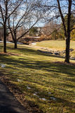 Suburban park Royalty Free Stock Image