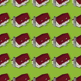 Suburban pattern. Seamless pattern design of a suburbia Stock Images