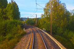Suburban railroad track Royalty Free Stock Photography