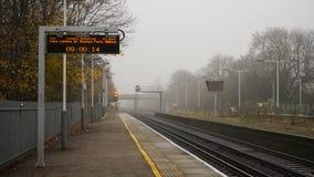 Suburban railway station Stock Images