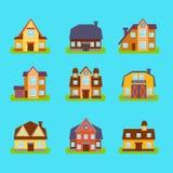 Suburban Real Estate Houses Set Stock Photography