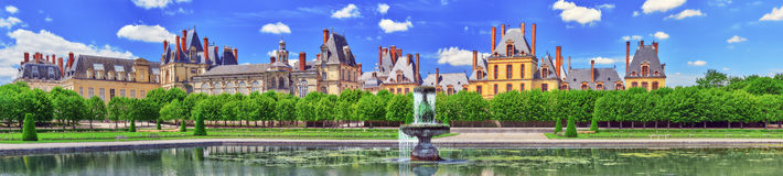 Suburban Residence of the France Kings - beautiful Chateau Fonta Stock Photos