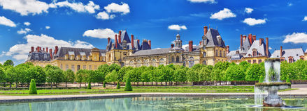 Suburban Residence of the France Kings - beautiful Chateau Fonta Royalty Free Stock Photography
