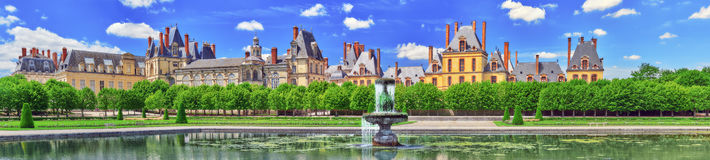 Suburban Residence of the France Kings - beautiful Chateau Fonta Stock Photography