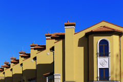 Suburban residential houses. Royalty Free Stock Image