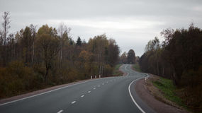 Suburban road in Russia Royalty Free Stock Photo