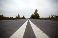 Suburban road in Russia Stock Images