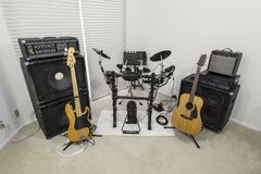 Suburban Rocker Music Room Stock Photo