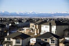 Suburban roof tops Stock Photos