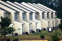 Suburban sameness. Tract homes exhibit a monotonous continuaty in suburban Virginia stock photography