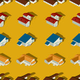 Suburban seamless pattern. Seamless pattern design of a suburban city Stock Photo