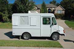 Suburban Service Truck. A service truck sits in front of a suburban home Stock Photography