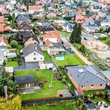 Suburban settlement in Germany with terraced houses, home for ma Stock Image