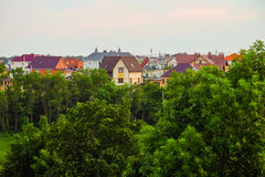 Suburban skyline stock image