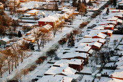 Suburban Snow Stock Images