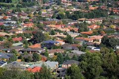 Suburban sprawl Royalty Free Stock Photos