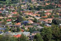 Suburban sprawl. Aerial view of suburban houses in Melbourne, Australia Royalty Free Stock Photos