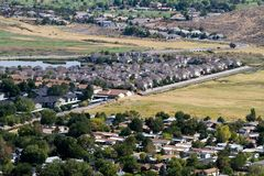 Suburban Sprawl Royalty Free Stock Photo