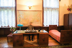Suburban Stalin`s office. Memorial History Museum in Sochi Stalin`s Dacha Royalty Free Stock Images