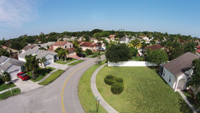 Suburban street in Florida aerial Royalty Free Stock Image