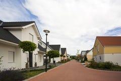 Suburban street in Germany Stock Photo