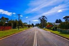 Suburban Street with Houses in Blue Mountains Australia Royalty Free Stock Photo