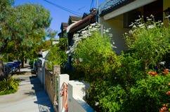 Suburban Street with Houses in Sydney Australia Royalty Free Stock Image