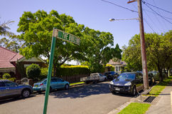 Suburban Street with Houses in Sydney Australia Royalty Free Stock Photo