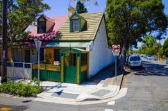 Suburban Street with Houses in Sydney Australia Royalty Free Stock Photos