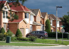 Suburban Street. A suburban street on September 5, 2013 in Richmond Hill, Canada. Richmond Hill is the 28th most populous municipality in Canada Royalty Free Stock Image